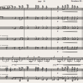 DECADANCE, three dance movements for chamber orchestra